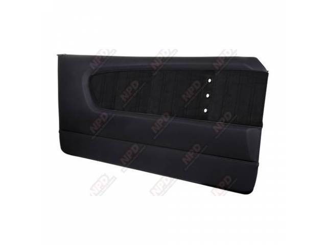 DOOR PANELS Sport XR matte black vinyl with
