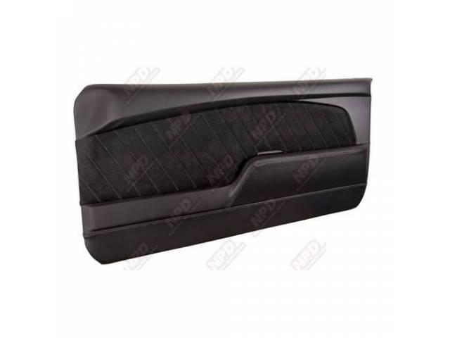 DOOR PANELS Sport R black gloss finish vinyl