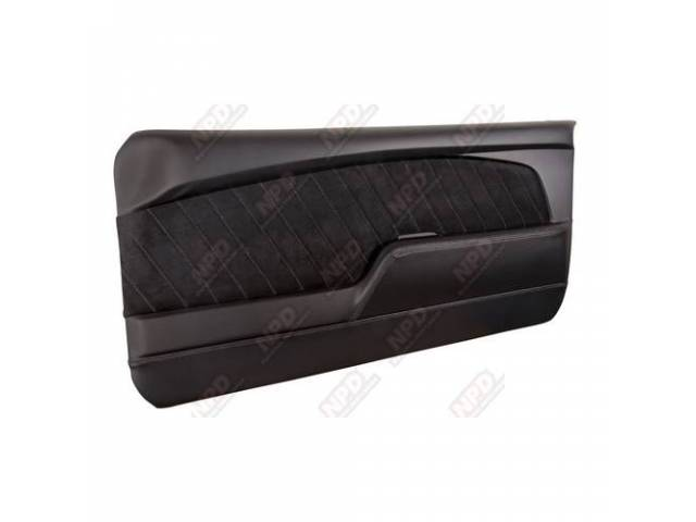 DOOR PANELS Sport R black matte finish vinyl