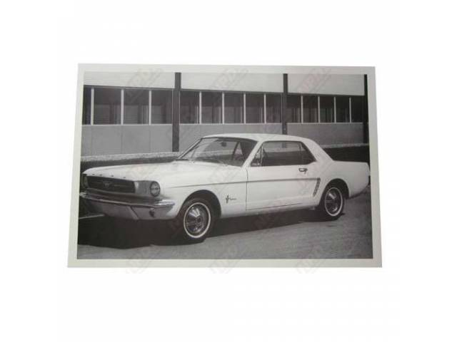 CLASSIC PHOTO, 1965 COUPE OUTSIDE BUILDING, 12 INCH