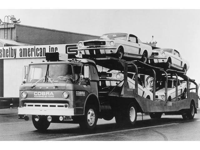 CLASSIC PHOTO, 1966 GT-350S ON TRANSPORT TRUCK