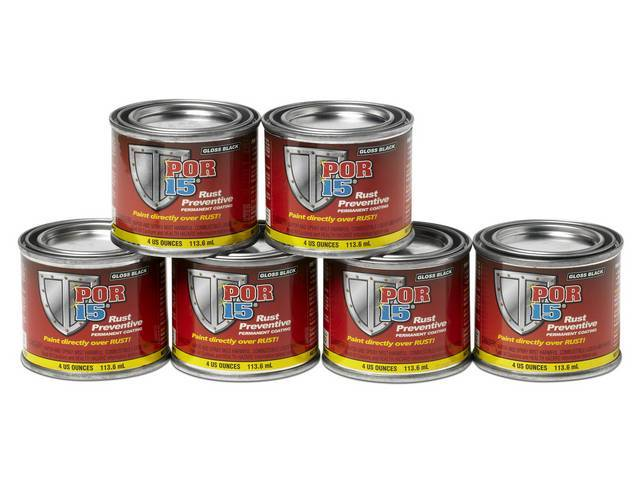 Por-15 Rust Preventive Coating Gloss Black Six-Pack Of