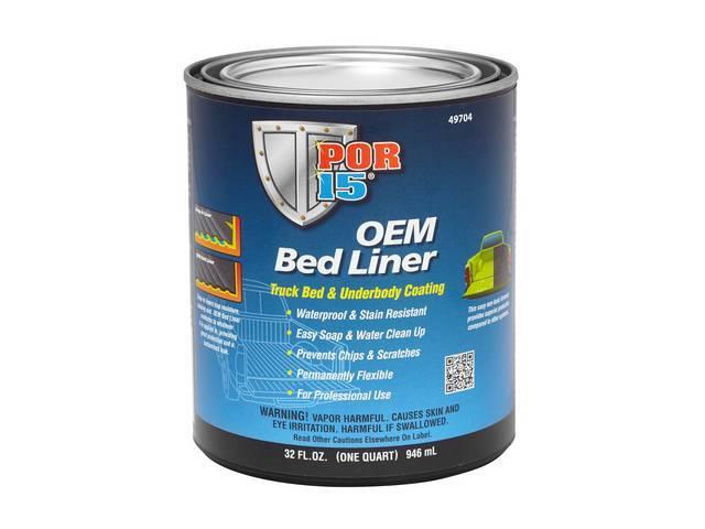 Oem Bed Liner Por-15 Gloss Black Quart Formulated