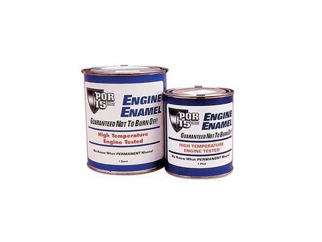 ENGINE ENAMEL, POR-15, Gloss Black, quart, a durable direct to metal coating that creates a smooth, high-gloss finish that withstands the rigors of the engine compartment while improving the look and preventing corrosion of the metal components, withstand