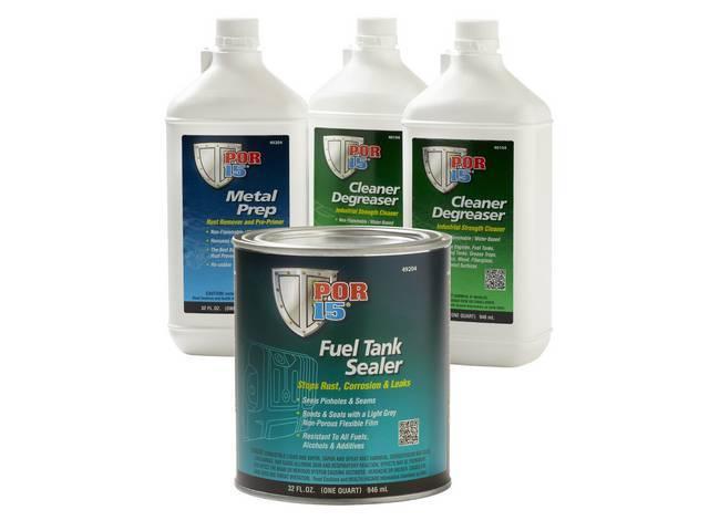 REPAIR KIT, Automotive Fuel Tank, POR-15, cleans and