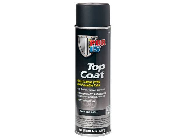Top Coat Por-15 Chassis Black 14 Ounce Aerosol