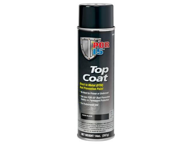 Top Coat Por-15 Gloss Black 14 Ounce Aerosol