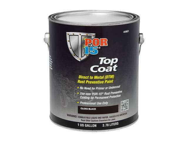 Top Coat Por-15 Gloss Black Gallon Top Coat