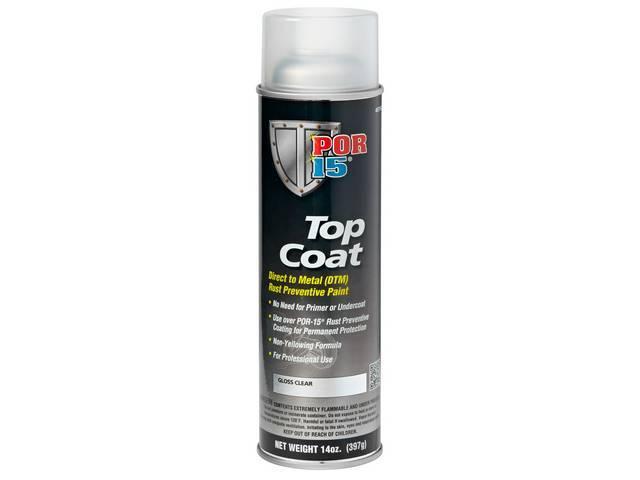 TOP COAT POR-15 Gloss Clear 15 ounce aerosol