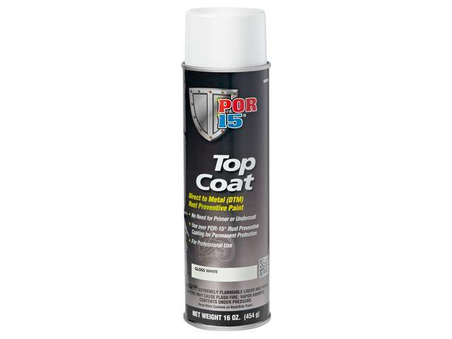 TOP COAT POR-15 Gloss White 16 ounce aerosol