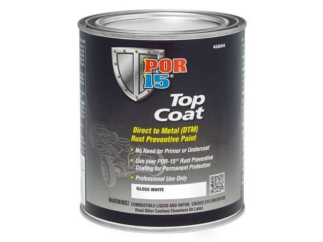 TOP COAT, POR-15, Gloss White, gallon, Top Coat