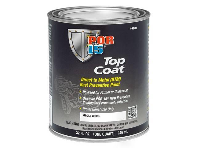 TOP COAT, POR-15, Gloss White, quart, Top Coat
