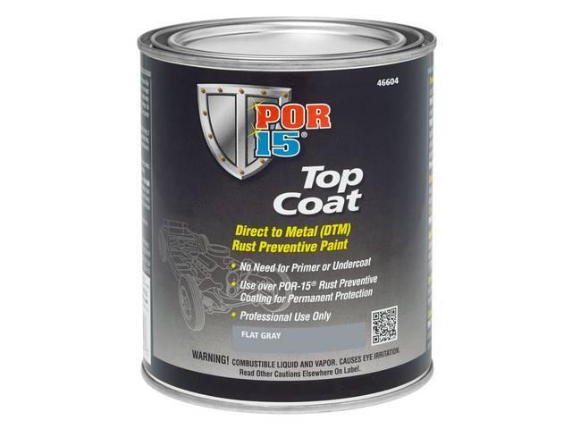 TOP COAT, POR-15, Primer Flat Gray, gallon, Top