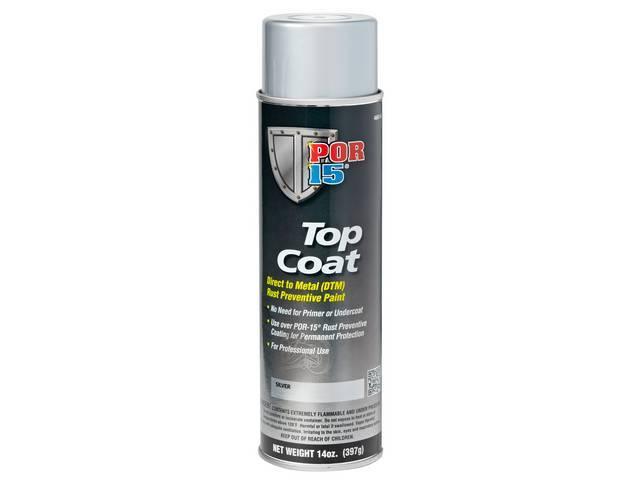 Top Coat Por-15 Silver 14 Ounce Aerosol Spray