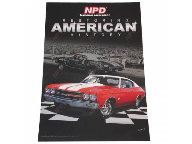 POSTER, SERIES 1, CHEVELLE, RED 70 454 SS,