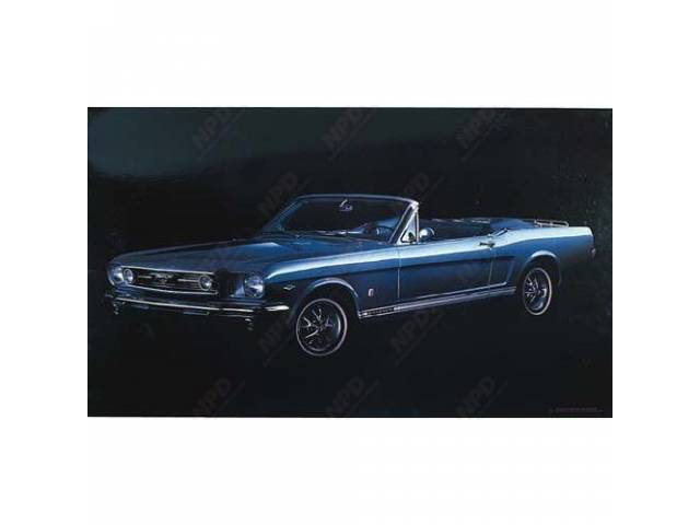 POSTER 66 MUSTANG GT IN BLUE 20 INCH