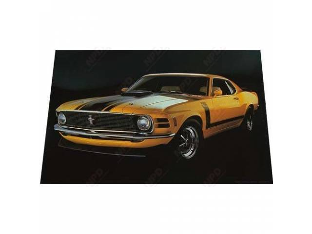 POSTER 70 BOSS 302 IN YELLOW 20 INCH