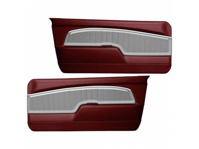 DOOR PANELS Sport Deluxe red w/ brushed aluminum