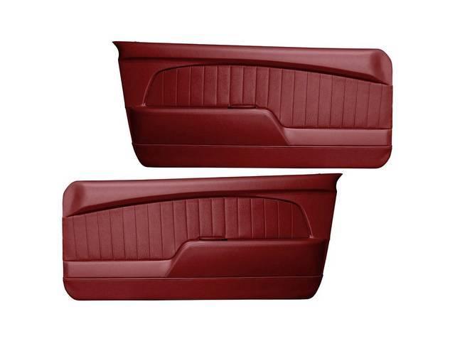 DOOR PANELS Sport Deluxe maroon sierra grain w/