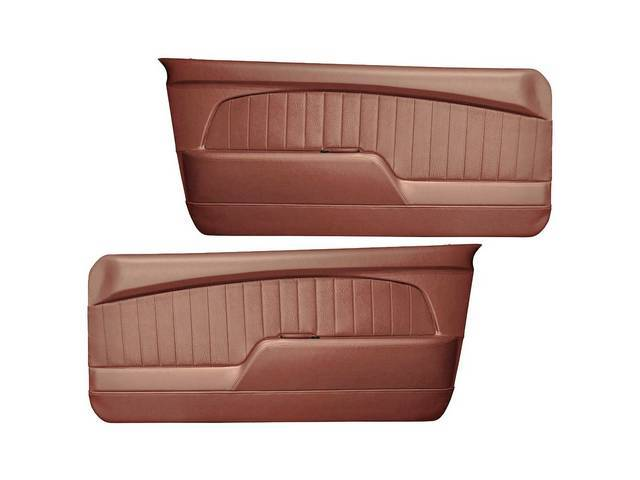 DOOR PANELS Sport Deluxe saddle sierra grain w/