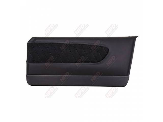 DOOR PANELS Sport R black matte finish vinyl