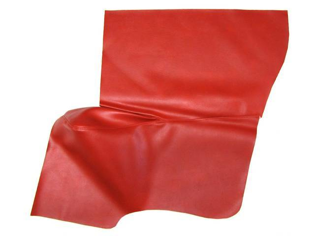 UPHOLSTERY, QUARTER TRIM PANELS, VERMILION (RED