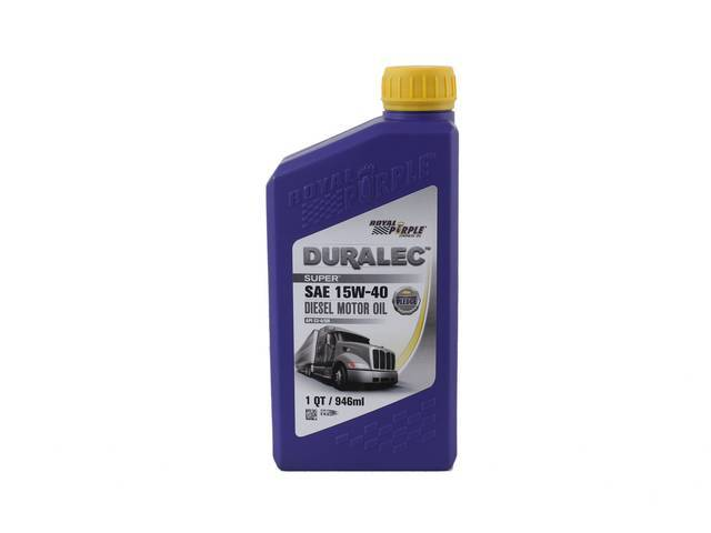 SYNTHETIC OIL, Royal Purple, SAE 15W-40, 1 quart, Popular oil blend sold at most retailers, meets Dexos 1 and ILSAC GF-5 specifications