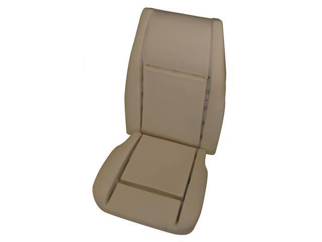 SEAT FOAM, ECONOMY STYLE, US-made, HAS EMBEDDED RODS