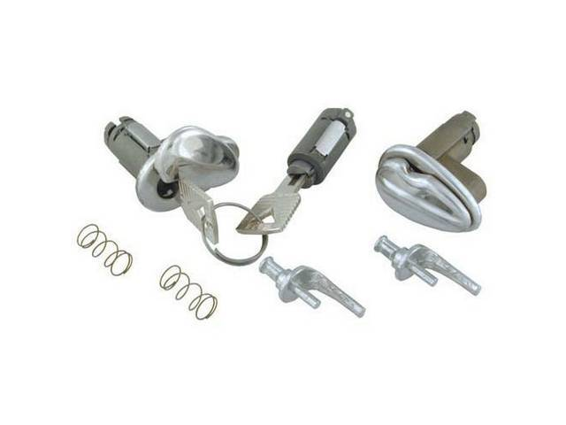 LOCK CYLINDER KIT, DOORS AND IGNITION, 2 DOORS,