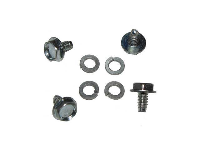 MOUNTING KIT, TO ATTACH LOWER HINGES, (8), SCREWS