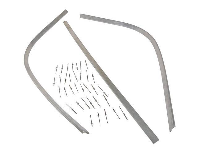 RETAINER, SOFT TOP REAR TACK STRIP, INSTRUCTIONS INCLUDED,