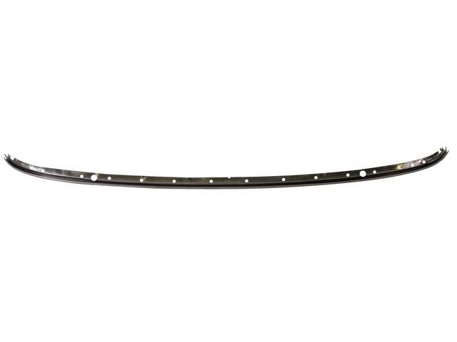 MOLDING, HARD TOP, FRONT HEADER, STAINLESS STEEL