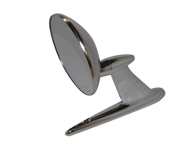 REARVIEW MIRROR, OUTSIDE, 1 HOLE, CONVEX MIRROR, REQUIRES