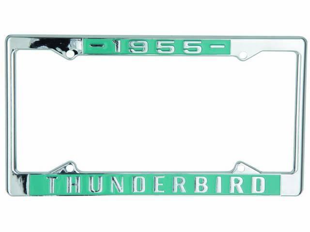 FRAMES, License Plate, 1955 Thunderbird, pair, chrome with