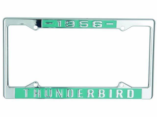 FRAMES, License Plate, *1956 Thunderbird*, pair, chrome with