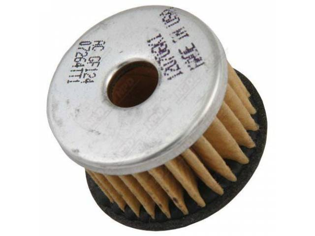 FUEL FILTER, Element, replacement, inside fuel pump canister,
