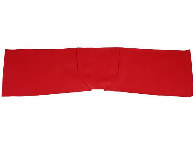 FLOOR COVER, Vinyl, red, wide version approximately 46