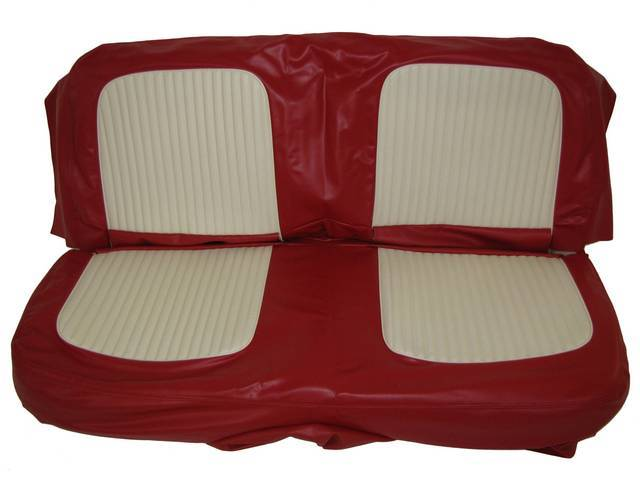SEAT UPHOLSTERY, RED AND WHITE
