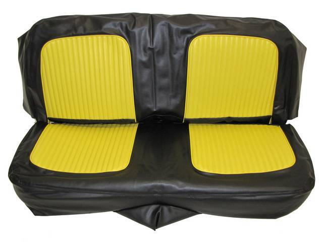 SEAT UPHOLSTERY, BLACK AND YELLOW