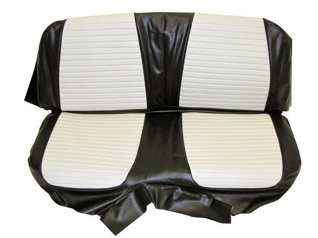 SEAT UPHOLSTERY, BLACK AND WHITE, PLAIN BACK REST