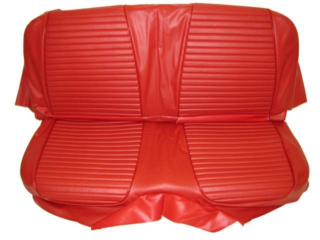 SEAT UPHOLSTERY, RED WITH BACK REST EMBOSSMENT