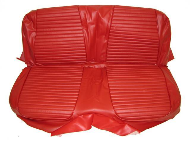 SEAT UPHOLSTERY, RED, PLAIN BACK REST WITHOUT EMBOSSMENT