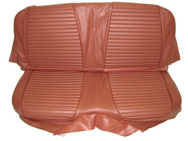 SEAT UPHOLSTERY, BRONZE WITH BACK REST EMBOSSMENT