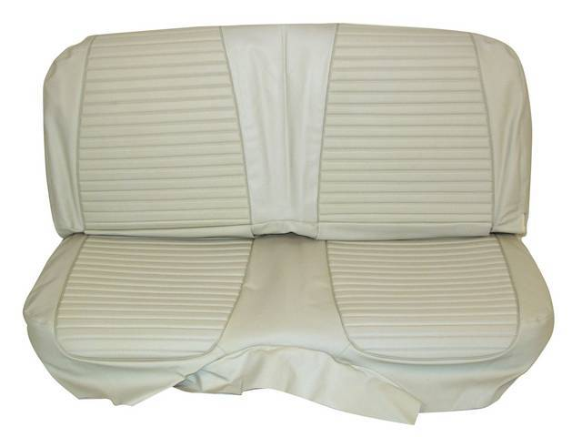 SEAT UPHOLSTERY, WHITE WITH BACK REST EMBOSSMENT