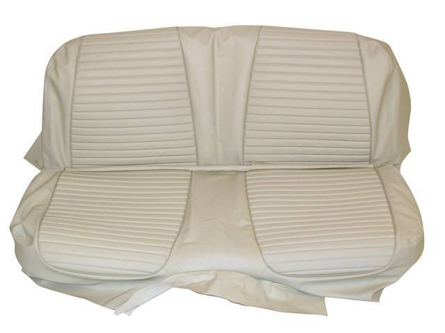 SEAT UPHOLSTERY, WHITE, PLAIN BACK REST WITHOUT EMBOSSMENT