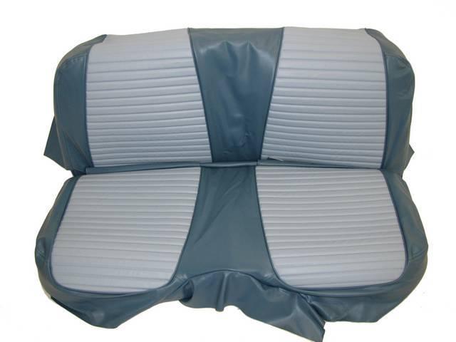 SEAT UPHOLSTERY, LIGHT BLUE AND DARK BLUE, PLAIN
