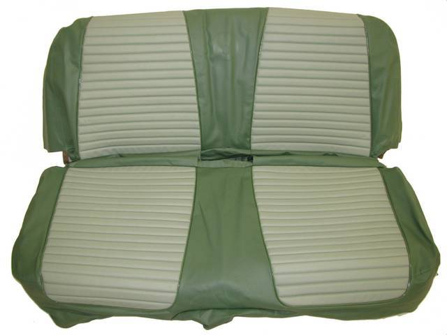 SEAT UPHOLSTERY, LIGHT GREEN AND DARK GREEN WITH BACK REST EMBOSSMENT