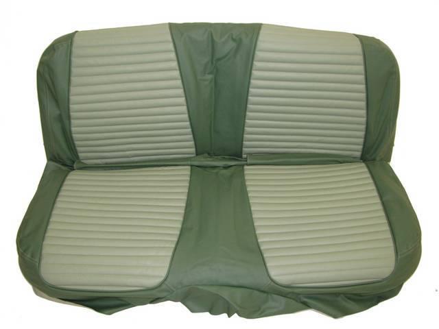 SEAT UPHOLSTERY, LIGHT GREEN AND DARK GREEN, PLAIN