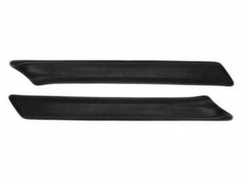 WINDSHIELD PILLAR PADS, BLACK