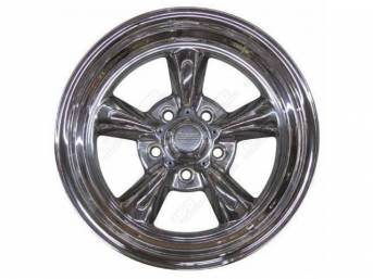 Wheel, Torq-Thrust Ii, Polished One Piece Alloy, 15